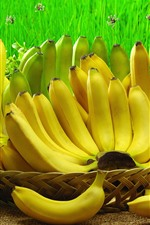 Preview iPhone wallpaper Some bananas, fruit, harvest