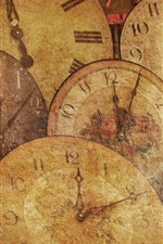 Preview iPhone wallpaper Some clocks, texture background