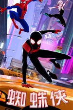 Preview iPhone wallpaper Spider-Man: Into the Spider-Verse, anime movie 2018
