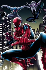 Preview iPhone wallpaper Spider-man, pose, art picture