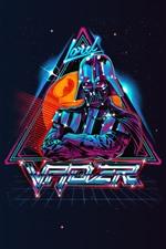 La guerra de las galaxias, Darth Vader, imagen artística, fondo negro