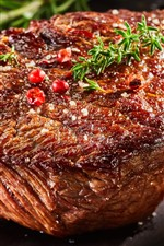Preview iPhone wallpaper Steak, meat, barbecue