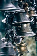 Preview iPhone wallpaper Steel bells
