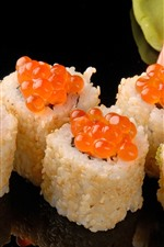 Preview iPhone wallpaper Sushi, caviar