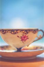 iPhone fondos de pantalla Taza de té, brumoso