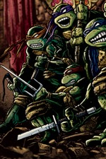 Preview iPhone wallpaper Teenage Mutant Ninja Turtles, classic anime, art picture