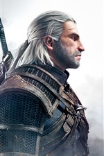 Preview iPhone wallpaper The Witcher 3: Wild Hunt, man, sword