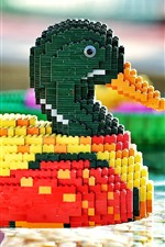 Preview iPhone wallpaper Toy bricks duck