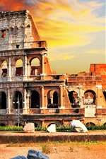Preview iPhone wallpaper Travel to Rome, Colosseum, Italy