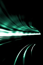 Preview iPhone wallpaper Tunnel, speed, light lines, darkness