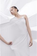 Dos bailarinas, paño blanco, estilo artístico