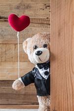 Aperçu iPhone fond d'écranDeux ours de nounours, coeurs d'amour