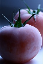 Preview iPhone wallpaper Two tomatoes, frost, hazy