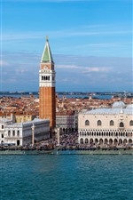 Preview iPhone wallpaper Venice, Italy, Palace, city, buildings, river, boats