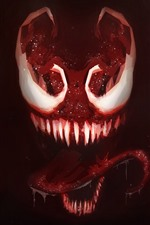 Preview iPhone wallpaper Venom, teeth, horror, art picture
