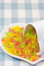 미리보기 iPhone 배경 화면 흰색 컵, 화려한 사탕