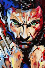 Preview iPhone wallpaper Wolverine, Logan, art picture