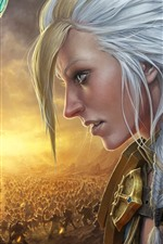 Preview iPhone wallpaper World of Warcraft: Battle for Azeroth, face to face
