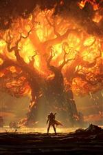 World of Warcraft: batalha por Azeroth, chama, árvore