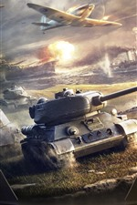 iPhone fondos de pantalla World of Warships, tanques, aviones, barcos