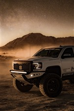 Preview iPhone wallpaper 4x4 auto, desert, dust, starry
