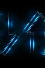 Setas abstratas, luz azul