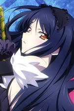 Preview iPhone wallpaper Accel World, blue hair anime girl