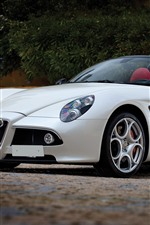 Alfa Romeo white convertible
