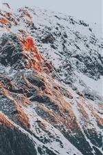 Alpes, nieve, montaña