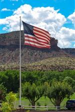 Bandera de america, granja