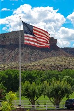 Preview iPhone wallpaper America Flag, farm