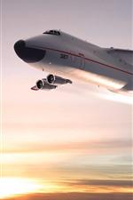 Preview iPhone wallpaper Antonov An-225 plane, sky, sunset
