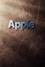 Logotipo de Apple, raias claras, textura