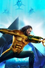 Preview iPhone wallpaper Aquaman, Marvel movie