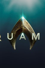 Preview iPhone wallpaper Aquaman, movie logo