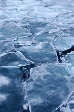 Arctic, ice slices, cracks, sea, cold