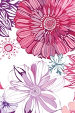 Preview iPhone wallpaper Art picture, aster flowers texture background
