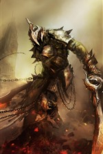 Preview iPhone wallpaper Art picture, warrior, sword, armor