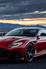 Preview iPhone wallpaper Aston Martin DBS red supercar