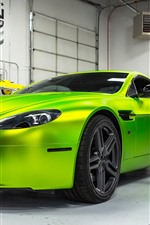 Preview iPhone wallpaper Aston Martin Hybrid green supercar
