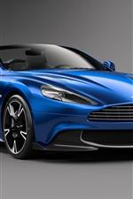 Aston Martin Vanquish S blauer Wagen