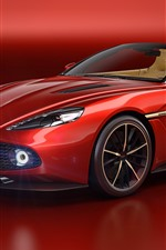 Aston Martin red sport car