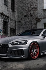 Preview iPhone wallpaper Audi RS5 silver car