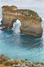 Preview iPhone wallpaper Australia, arch, sea, nature landscape