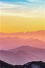 Preview iPhone wallpaper Austria, mountains, sunrise, clouds, dawn