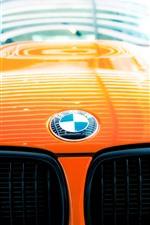 Preview iPhone wallpaper BMW logo, orange car