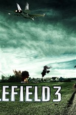Preview iPhone wallpaper Battlefield 3, farmland, tank, fighter
