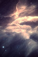 Preview iPhone wallpaper Beautiful nebula, stars, art picture