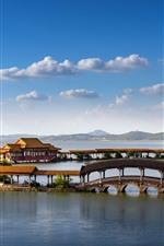 Beautiful park, Tongyi Jiayuan, lake, Wuxi, China
