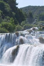 Preview iPhone wallpaper Beautiful waterfalls, nature landscape